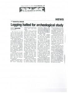 Logging halted For Archaeology Study-Dec-17-2010