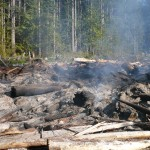 BCTS slash pile burning on B+K Rd  above Roberts Creek 013