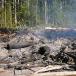BCTS slash pile burning on B+K Rd  above Roberts Creek 024