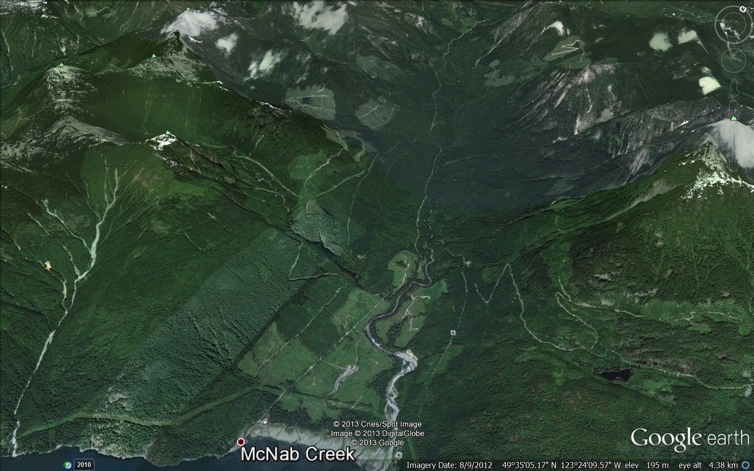 Google Earth - Maps - Dakota Bowl Watershed - Elphinstone
