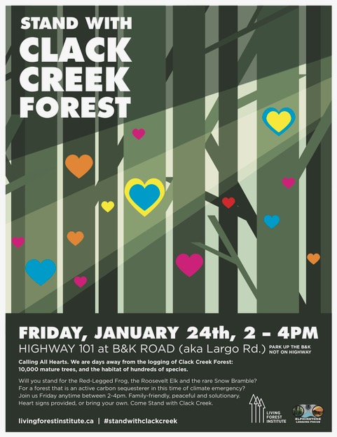Stand with Clack Creek Poster