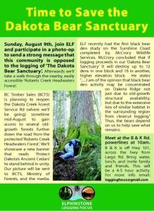 Save the Dakota Bowl Bear Sanctuary - Event August 9, 2015