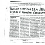 Nature Provides $5.4 billion per year benefit to Greater Vancouver-Van Sun- Oct-28-2010