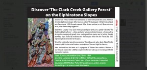 Discover the Clack Creek Gallery Forest - Trail Walk ad